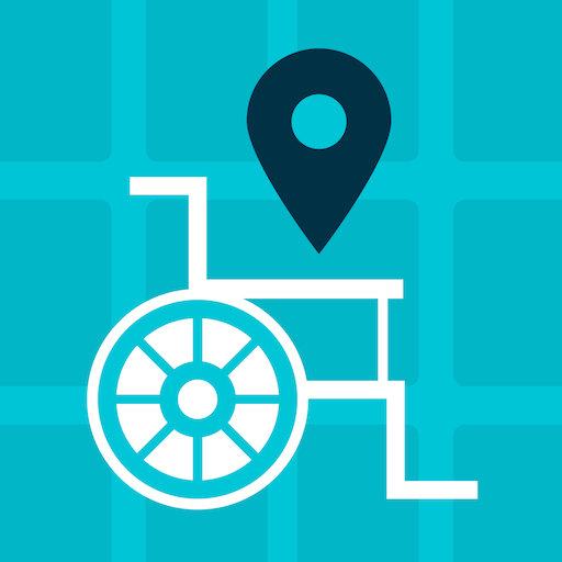 Mapcesible logo: a wheelchair located  Mapcesible is an informative and collaborative application that facilitates the location of accessible places: bars, restaurants, shops, hotels, public toilets, museums, cinemas, theaters, sports centers, beaches and especially highlights the location of parking spaces for people with reduced mobility .  The initiative is from Fundación Telefónica and aims to promote the Mapcesible community to make accessible places visible all oveMapcesible logo: a wheelchair located